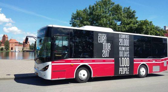 Trakų keliuose – patogus žemagrindis ISUZU Citibus autobusas