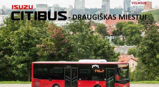 """Visiems keleiviams ir miestui draugiškas """"Isuzu Citibus"""" autobusas"""