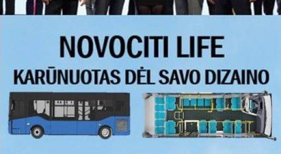 """Naujieji Novociti Life autobusai pelnė """"Geriausio dizaino"""" apdovanojimą."""