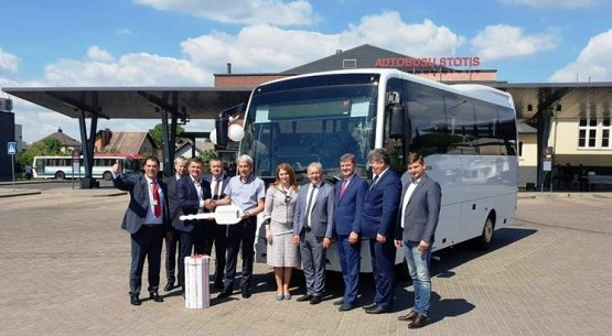 New buses in another city of Lithuania