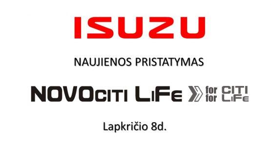"ISUZU ""Novociti Life"" pristatymas Vilniuje!"
