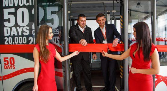"""""""Novociti Life"""" miesto autobuso pristatymas Lietuvoje"""