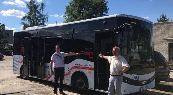 Очередной demo tour туристический автобус в городе Мажейкяй