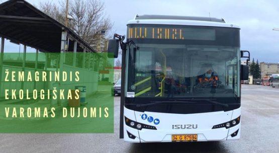 Sostinės vežėjai išbando naują dujinį autobusą